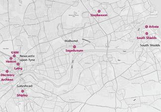 A map of TWAM venues