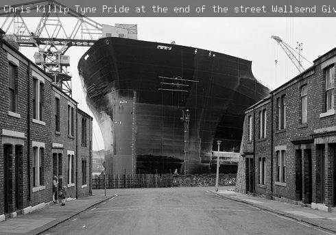 Chris Killip, Tyne Pride at the end of the street, Wallsend. Given by the artist in honour of all the shipyard workers of Tyneside, 2017