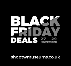 Graphic promoting online shop Black Friday sale in text only
