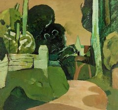 Keith Vaughan; Landscape with a Green Church